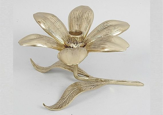 Подсвечник из бронзы Цветок 1185