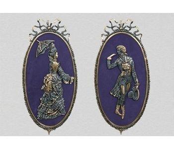 Парное панно Virtus Дама и кавалер (арт. 1222)