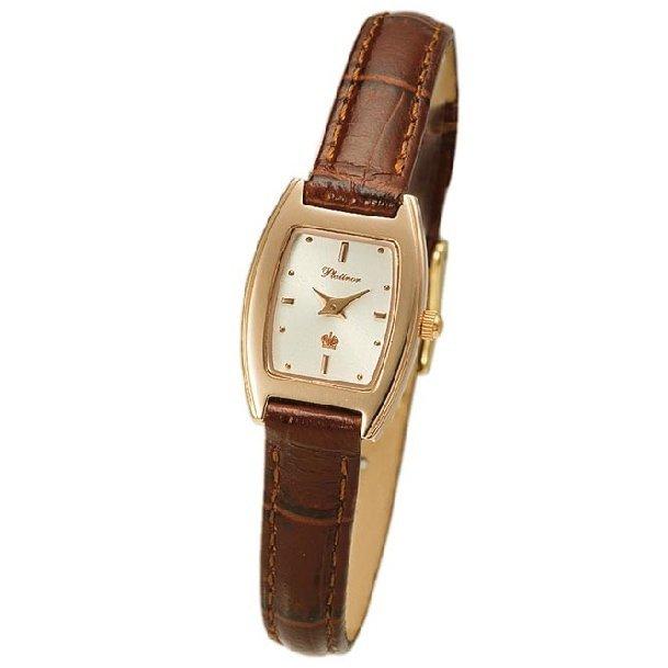 Женские золотые часы Platinor Сандра (91550) ID-11480. Женские Женские золотые Орхидея