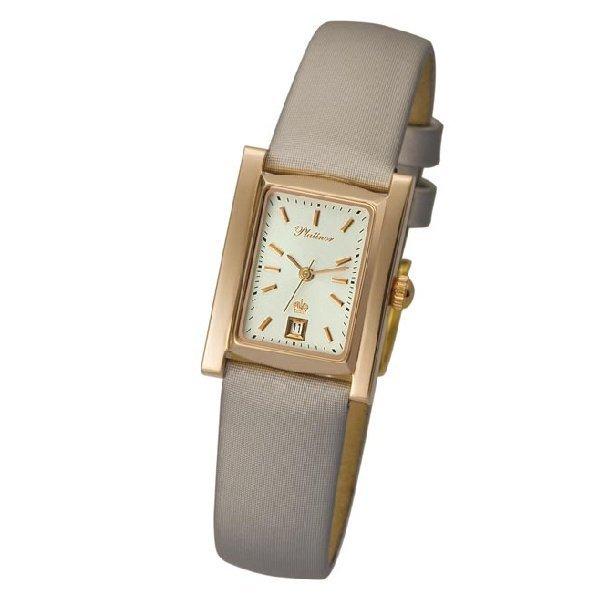 продажа Часы Женские наручные золотые часы в коллекции Rectangular Rt42950.103 Platinor в интернет онлайн магазине