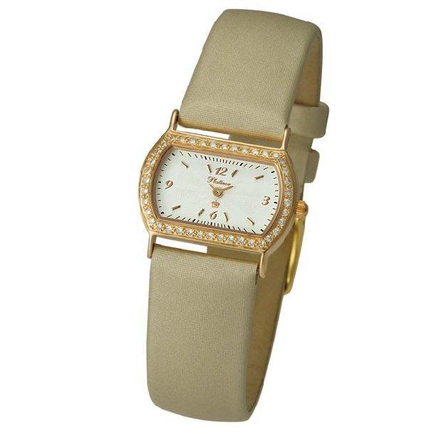 Женские золотые часы Platinor Юнона (98556