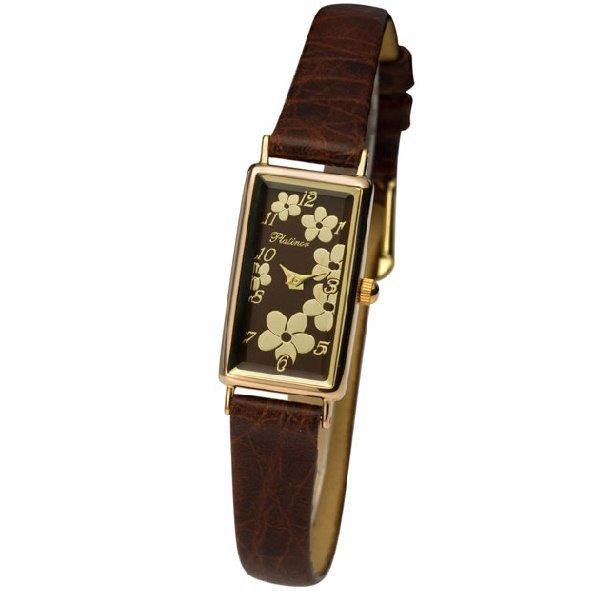продажа Часы Женские наручные золотые часы в коллекции Rectangular Rt42550.745 Platinor в интернет онлайн