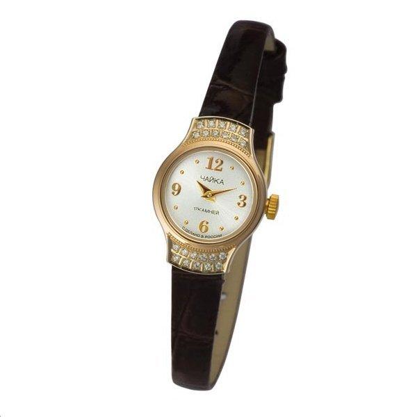 Женские золотые часы Чайка 95256