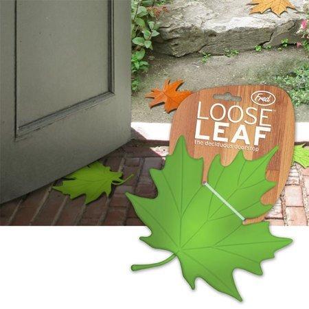 Креативный стоппер для двери «Кленовый лист» оранж